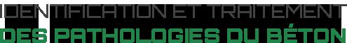Identification et traitement des pathologies du béton